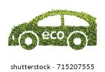 eco car concept with recycle... | Shutterstock .eps vector #715207555