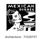 mexican dishes   retro ad art...