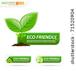green eco friendly template... | Shutterstock .eps vector #71520904