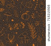beautiful autumn pattern for... | Shutterstock .eps vector #715215505