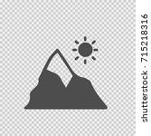 mountain and sun vector icon... | Shutterstock .eps vector #715218316