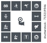 set of 13 editable active icons....