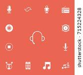 set of 13 editable music icons. ...
