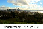 seattle 2013  landscape view of ... | Shutterstock . vector #715225612