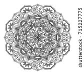 decorative mandala isolated on... | Shutterstock . vector #715227775