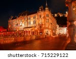 slovenia. ljubljana. beautiful... | Shutterstock . vector #715229122