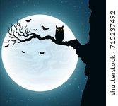 background for halloween. black ... | Shutterstock .eps vector #715237492