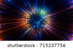 abstract spacescape  black hole.... | Shutterstock . vector #715237756