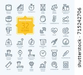 measuring related web icon set  ... | Shutterstock .eps vector #715242706