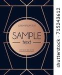 geometric rose gold design...   Shutterstock .eps vector #715243612