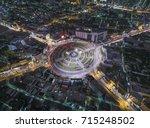 road traffic in city at... | Shutterstock . vector #715248502