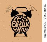 hand draw alarm clock... | Shutterstock .eps vector #715248556