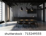 Modern Hipster Dining Area In...