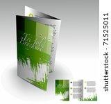 tri fold brochure design... | Shutterstock .eps vector #71525011