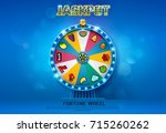 fortune wheel spinning  on... | Shutterstock .eps vector #715260262