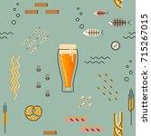 vector seamless pattern for... | Shutterstock .eps vector #715267015