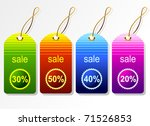 vector set of tags | Shutterstock .eps vector #71526853
