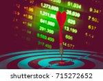 target hit in the center by... | Shutterstock . vector #715272652