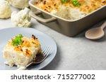 loaded vegetable cauliflower... | Shutterstock . vector #715277002