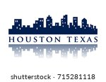 houston texas skyline city logo | Shutterstock .eps vector #715281118