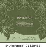 vector dark green invitation...   Shutterstock .eps vector #71528488