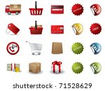 shopping icons | Shutterstock .eps vector #71528629