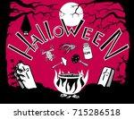 halloween . eps10. pumpkin ... | Shutterstock .eps vector #715286518