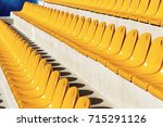 row of plastic chairs. empty... | Shutterstock . vector #715291126