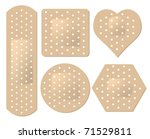 vector adhesive bandage set | Shutterstock .eps vector #71529811