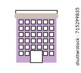 building facade windows door...   Shutterstock .eps vector #715299835