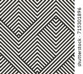 vector geometric lines pattern. ... | Shutterstock .eps vector #715301896