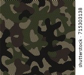 camouflage netting. seamless... | Shutterstock .eps vector #715303138