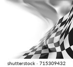 checkered flag background race... | Shutterstock . vector #715309432