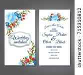 wedding invitation card suite... | Shutterstock .eps vector #715310812
