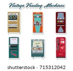 vector set of vintage vending... | Shutterstock .eps vector #715312042