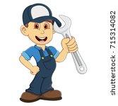 mechanic cartoon vector...