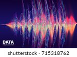 sound data visualization.... | Shutterstock .eps vector #715318762