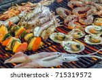 Barbecue Fire Grill  Shellfish...
