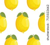 fresh large lemons background ... | Shutterstock .eps vector #715322662