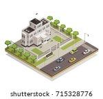 historic white lime painted... | Shutterstock .eps vector #715328776