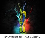 colourfully bottles abstract... | Shutterstock . vector #715328842