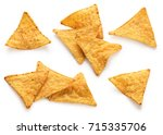 corn chips  nachos isolated on...   Shutterstock . vector #715335706