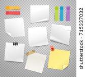 blank paper stickers vector... | Shutterstock .eps vector #715337032