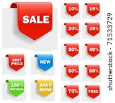 Sale Labels Set With Variety O...