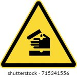 corrosive warming sign  | Shutterstock .eps vector #715341556