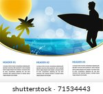 summer holiday web and print... | Shutterstock .eps vector #71534443