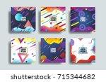 liquid  flow  fluid background... | Shutterstock .eps vector #715344682