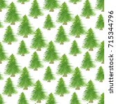christmas trees seamless patten.... | Shutterstock . vector #715344796