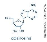 adenosine  ado  purine...   Shutterstock .eps vector #715349776