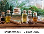 selection of essential oils...   Shutterstock . vector #715352002